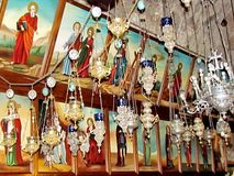 Jerusalem gravvalv av de jungfruliga symbolslamporna 2012 Royaltyfri Bild