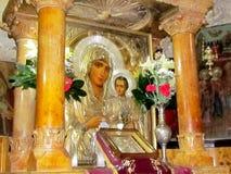 Jerusalem gravvalv av den jungfruliga symbolen av vår dam av Jerusalem 2012 Arkivfoto