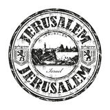 Jerusalem grunge rubber stamp Stock Images