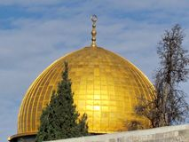 Jerusalem guld- kupol av Rock moskén 2012 Royaltyfri Fotografi