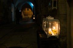 Jerusalem Hanukkah Western Wall Tunnels Tour. Israel Royalty Free Stock Photo