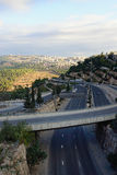 Jerusalem highway Stock Photos