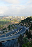 Jerusalem highway Royalty Free Stock Images