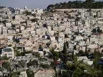 Jerusalem hillside houses Stock Photography