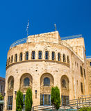 Jerusalem Historical City Hall Building with pockmarks from hostilities Royalty Free Stock Photo