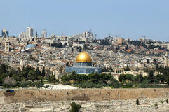 Jerusalem - the holy city for Muslims, for Christians, for Jews Stock Photos