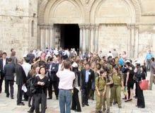 Jerusalem Holy Sepulcher entrance 2012 Royalty Free Stock Photography