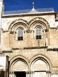 Jerusalem Holy Sepulcher gable 2012 Royalty Free Stock Images
