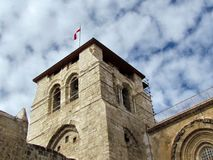 Jerusalem Holy Sepulcher tower December 2012 Stock Image