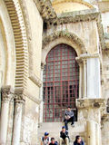 Jerusalem Holy Sepulcher window 2012 Royalty Free Stock Photos