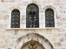 Jerusalem Holy Sepulcher windows 2012 Stock Image