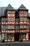 Jerusalem House. In Wetzlar, Germany. In this house, Karl Wilhelm Jerusalem shot himself. This tragic incident inspired Goethe to write his famous novel: The Royalty Free Stock Photo