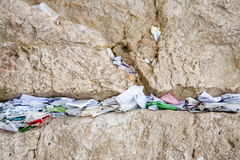 Jerusalem impression. Wishes in Western Wall in Jerusalem Stock Photography