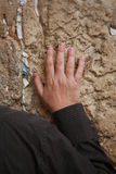 Jerusalem impression. Praying men in Western Wall in Jerusalem Stock Images