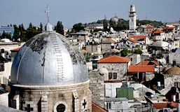 Jerusalem Israel. FPhoto from the rooftops of the Arab Stock Images