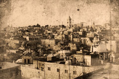 Jerusalem Israel. Retro look of the Orient - Jerusalem in Israel Stock Images