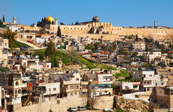 Jerusalem, Israel. Arab neighborhood near the Old City in Jerusalem, Israel Stock Images