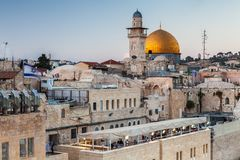 Nice view of the Dome of the Rock stock images