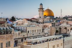 Nice view of the Dome of the Rock royalty free stock image