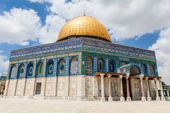 Nice view of Dome of the Rock royalty free stock photography