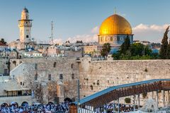 Nice view of the the Western Wall royalty free stock photo