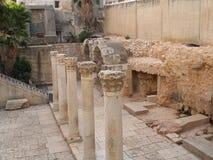 JERUSALEM, ISRAEL. Columns Jerusalem Royalty Free Stock Images