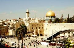 Jerusalem, Israel 20 de agosto de 2014: Mesquita da rocha no Jerusalém fotos de stock royalty free