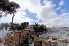 Jerusalem, Israel - 15 de fevereiro 2017 Monastério grego da ascensão no Monte das Oliveiras Fotos de Stock Royalty Free