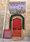 Santa`s house in the old town of Jerusalem, Israel Royalty Free Stock Photography
