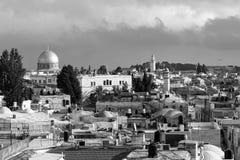 JERUSALEM, ISRAEL - 17. DEZEMBER 2016: Ansicht des Felsendoms Lizenzfreies Stockfoto