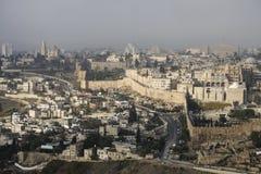 Jerusalem, Israel - 16. Dezember 2016: Die Stadt von David Stockbilder