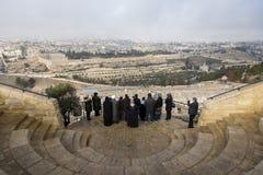 Jerusalem, Israel - 16. Dezember 2016: Die Stadt von David Lizenzfreie Stockbilder