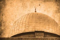 Jerusalem Israel Dome of the Rock. Retro look of the Orient - Jerusalem in Israel Royalty Free Stock Photo