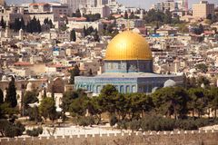 Jerusalem, Israel, El-Aqsa mosque on temple mountain Royalty Free Stock Photography