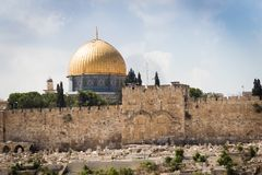 Jerusalem, Israel, El-Aqsa mosque on temple mountain Royalty Free Stock Photo