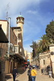 JERUSALEM ISRAEL - 27 FEBRUARI 2017 - via Dolorosa Royaltyfria Bilder