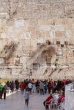 JERUSALEM, ISRAEL - FEBRUARY 17, 2013: People praying near Weste Royalty Free Stock Image