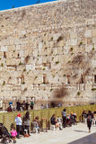 JERUSALEM, ISRAEL - FEBRUARY 17, 2013: People praying near Weste Stock Photos