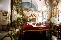 JERUSALEM, ISRAEL - Four sephardic synagogues. Brit royalty free stock photo