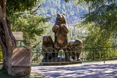 Group of Bears sculpture, Jerusalem Biblical Zoo in Israel Royalty Free Stock Photos