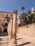 JERUSALEM,ISRAEL - JULI 13, 2015: Cardo Maximus, Roman Pillars . Royalty Free Stock Photography