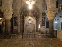 JERUSALEM ISRAEL - Juli 15, 2015: Ett av kapellen inom th Royaltyfria Foton