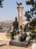 JERUSALEM ISRAEL 13 Juli 2015 Monument St Peter Fotografering för Bildbyråer