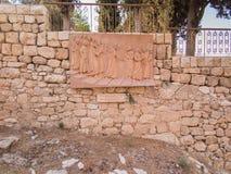 JERUSALEM ISRAEL 13 Juli 2015 Monument St Peter som förnekade J Fotografering för Bildbyråer