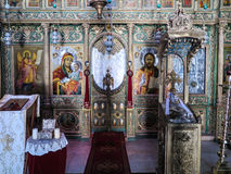 JERUSALEM, ISRAEL - JULY 13, 2015: the interior of the Orthodox Royalty Free Stock Image