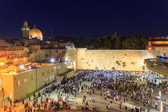 Jerusalem, Israel - July 01, 2016: Shabbat prayer at the Western Wall Stock Photos