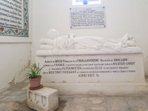 JERUSALEM, ISRAEL - JULY 13, 2015: Tomb of the Princess de la Tour d'Auvergne Royalty Free Stock Photo