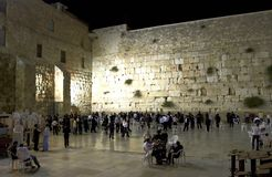 The Wailing Wall in the evening stock images