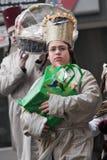 JERUSALEM, ISRAEL - 15. MÄRZ 2006: Purim-Karneval im berühmten ultra-orthodoxen Viertel von Jerusalem - Mea Shearim Stockbilder