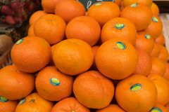 New fresh `Jaffa` tangerines for sale at city farmers market stock image